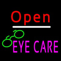 Red Open Pink Eye Care Logo Neon Sign