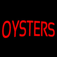 Red Oysters Block Neon Sign