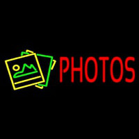 Red Photos With Logo Neon Sign