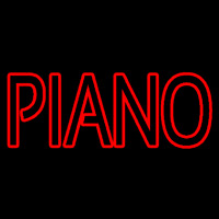 Red Piano Block Neon Sign