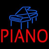 Red Piano Blue Logo 1 Neon Sign
