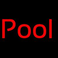 Red Pool Neon Sign