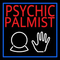 Red Psychic Palmist Neon Sign