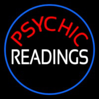 Red Psychic White Readings With Border Neon Sign