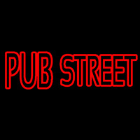 Red Pub Street Neon Sign