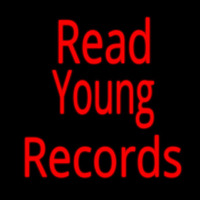 Red Read Young Records Neon Sign