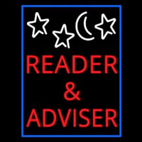 Red Reader And Advisor Neon Sign