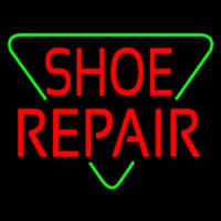Red Shoe Repair Block Neon Sign