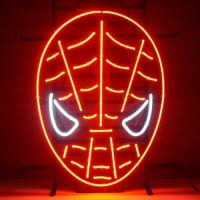Red Spiderman Neon Sign