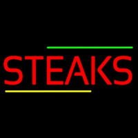 Red Steaks Neon Sign