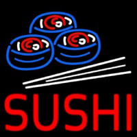 Red Sushi With Sushi Logo Neon Sign