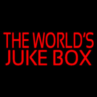 Red The Worlds Juke Bo  2 Neon Sign