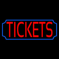 Red Tickets Blue Stylish Border Neon Sign