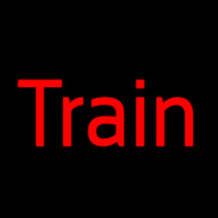 Red Train Neon Sign