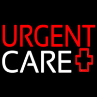 Red Urgent Care Plus Logo Neon Sign