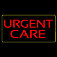 Red Urgent Care Yellow Border Neon Sign