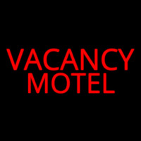 Red Vacancy Motel Neon Sign