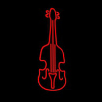 Red Violin Logo 1 Neon Sign