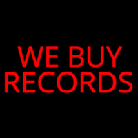 Red We Buy Records Neon Sign