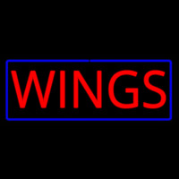 Red Wings with Blue Border Real Neon Glass Tube Neon Sign Neon Sign