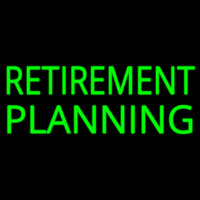 Retirement Planning Neon Sign