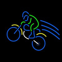 Rider With Bike Neon Sign