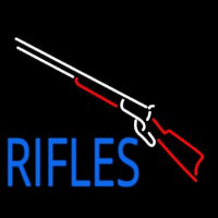 Rifles With Graphic Neon Sign