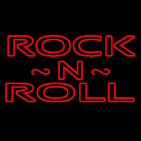 Rock N Roll Red Neon Sign