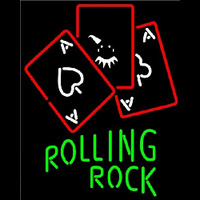 Rolling Rock Ace And Poker Beer Sign Neon Sign