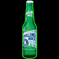 Rolling Rock Bottle Beer Sign Neon Sign