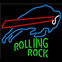 Rolling Rock Buffalo Bills NFL Neon Beer Sign Neon Sign