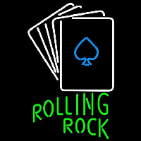 Rolling Rock Cards Beer Sign Neon Sign