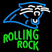 Rolling Rock Carolina Panthers NFL Neon Beer Sign Neon Sign