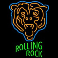 Rolling Rock Chicago Bears NFL Neon Beer Sign Neon Sign