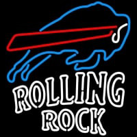 Rolling Rock Double Line Buffalo Bills NFL Neon Sign Neon Sign