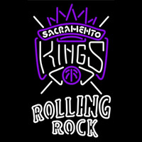 Rolling Rock Double Line Sacramento Kings NBA Beer Sign Neon Sign