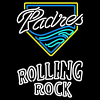 Rolling Rock Double Line San Diego Padres MLB Beer Sign Neon Sign
