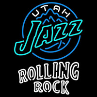 Rolling Rock Double Line Utah Jazz NBA Beer Sign Neon Sign
