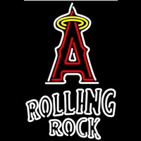 Rolling Rock Doubleline Anaheim Angels MLB Beer Sign Neon Sign