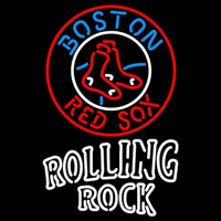 Rolling Rock Doubleline Boston Red Sox MLB Beer Sign Neon Sign