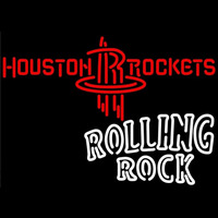 Rolling Rock Duble Line Houston Rockets NBA Beer Sign Neon Sign