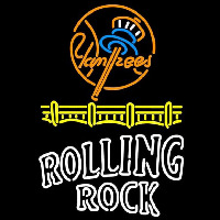 Rolling Rock Duble Line Logo New York Yankees Beer Sign Neon Sign