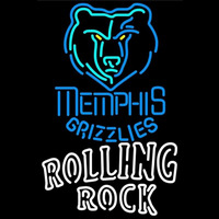 Rolling Rock Duble Line Memphis Grizzlies NBA Beer Sign Neon Sign