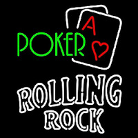 Rolling Rock Green Poker Beer Sign Neon Sign