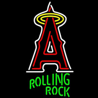 Rolling Rock Los Angeles Angels of Anaheim MLB Beer Sign Neon Sign
