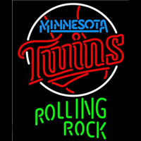 Rolling Rock Minnesota Twins MLB Beer Sign Neon Sign