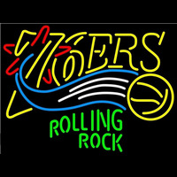 Rolling Rock Philadelphia 76ers NBA Beer Sign Neon Sign