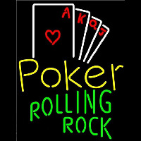 Rolling Rock Poker Ace Series Beer Sign Neon Sign