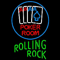 Rolling Rock Poker Room Beer Sign Neon Sign