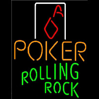 Rolling Rock Poker Squver Ace Beer Sign Neon Sign